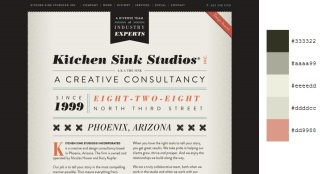Beautiful and Inspiring Color Combinations in Web Design - Kitchen Sink Studios