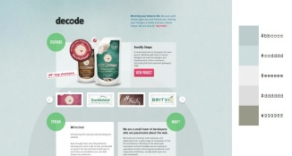 Beautiful and Inspiring Color Combinations in Web Design - Decode