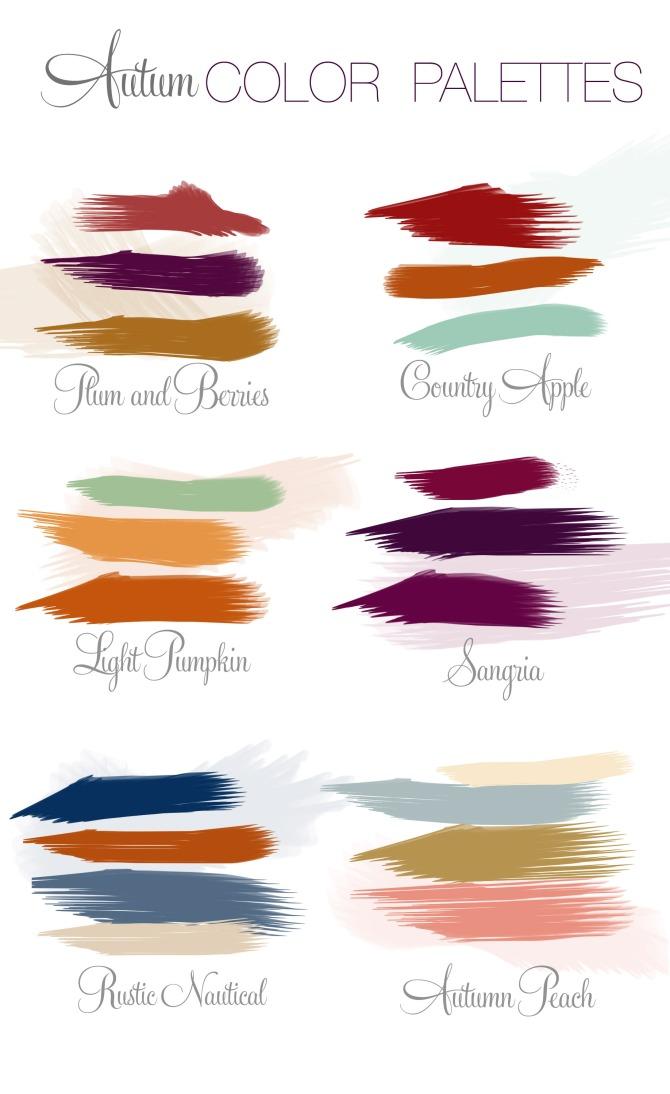 Color Inspiration #7 - Autumn Color Palettes