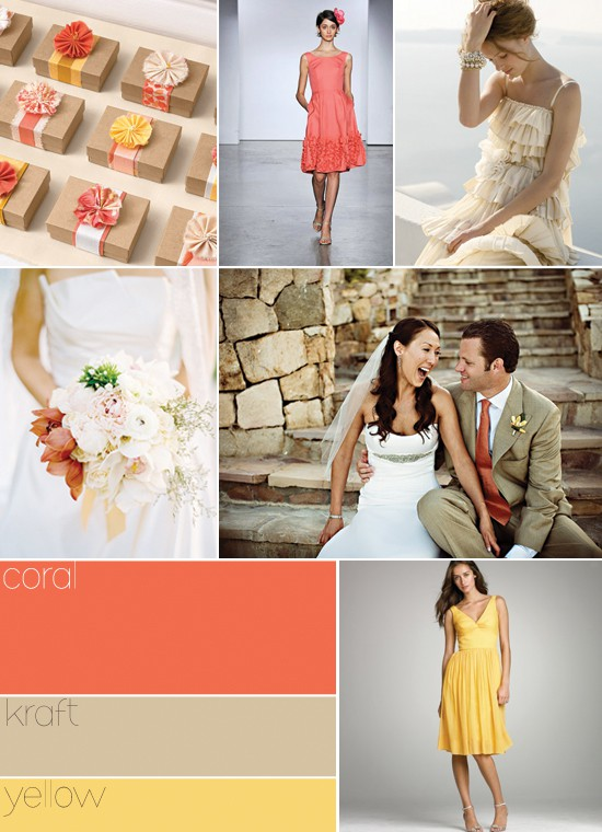 Color Inspiration #9 – Coral, Kraft and Yellow