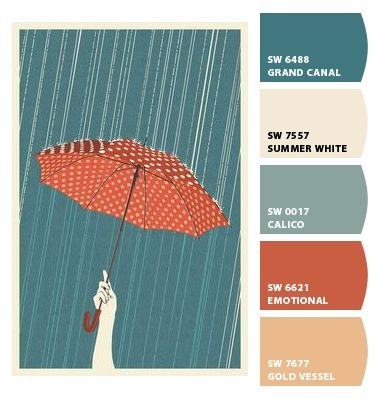 Color Inspiration #10 – Umbrella Print